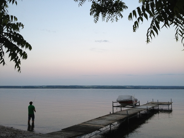 Fishing on Cayuga Lake