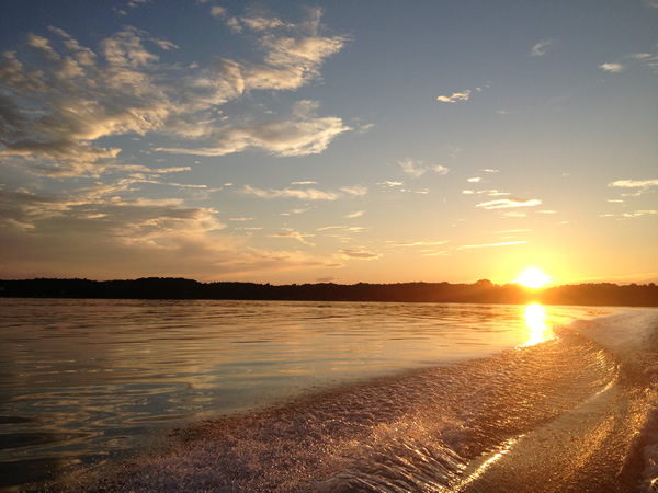 sunset on Cayuga Lake