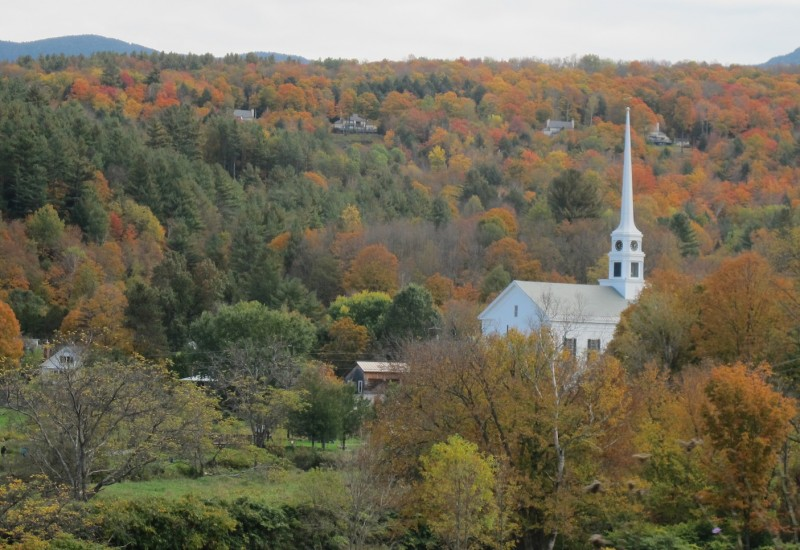 Stowe Church and Foliage